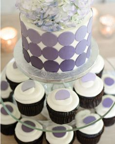 Purple Wedding, Purple Shower Cake, Lavender Cupcakes, Wedding Cupcakes //  The Cup