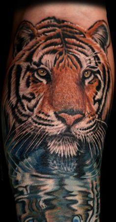 Tiger am Wasser, 4,5 Stunden Arbeit