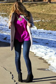 PolishedandPink: loving this look for winter! I would swap out the black booties for my grayish ones :)