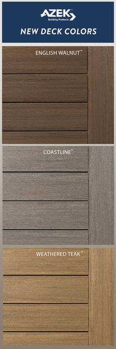 New Azek Deck Colors Alert S Vintage Collection Offers A More Realistic Wood Earance