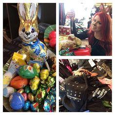 Carichi di #uova, #dolci e #cioccolata! Siamo pronti a festeggiare una #pasqua #rock! \m/ Auguri! Cosa avete trovato nel vostro uovo? #empitalia #bunnygirl
