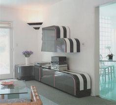 80s loft with a checkered floor 1980s interior design for Handbook of interior lighting design