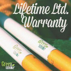 Green Smoke piedāvā mūža garantiju visām baterijām!
