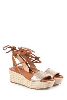 MICHAEL MICHAEL KORS Plateau-Sandalen Margie Flat mit Fesselschnürung bei myClassico - Premium Fashion Online Shop