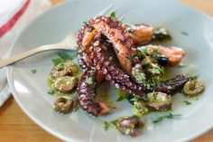 For this summery sous vide grilled octopus dish, octopus gets cooked in the Anova Sous Vide Precision Cooker before a quick sear on the grill. The flavor and texture is so good, it really only needs an easy lemon-parsley vinaigrette to go along with it. This works as a tapas-style appetizer but also as a healthy main dish when served with grilled vegetables or a salad.