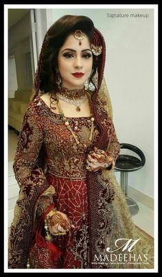Asian Wedding Dress Pakistani, Pakistani Bridal Makeup, Bridal Mehndi Dresses, Bridal Outfits, Boho Wedding Dress, Pakistani Dresses, Indian Bridal, Wedding Bride, Bridal Photoshoot
