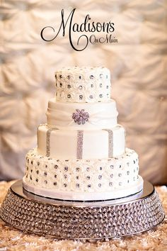 A buttercream cake with lots of bling!