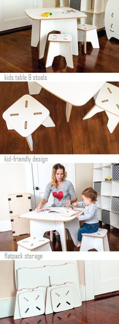 Parents and kids love to play together at Sprout's modern white kids table and stools. With durable, washable, melamine surfaces, and easy assembly and disassembly, this study table for kids is made to last your family for years to come. Find out more at Sprout.