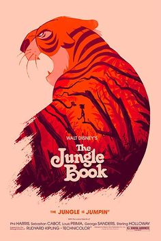 The Jungle Book by Olly Moss# - Illustrated Posters with Double Exposure Effects
