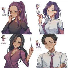 Intp Personality Type, Myers Briggs Personality Types, Myers Briggs Personalities, Mbti Charts, Anime Manga, Memes, Character Design, Fan Art, Cute