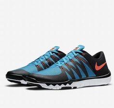 Nike Free Trainer 5.0 V6 Mens Training Shoes 10 Black Blue Lagoon 719922 084 #Nike #RunningCrossTraining
