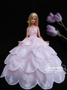 Barbie doll clothes, barbie dress,Skirts, Noble dress Wedding