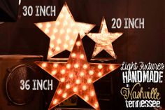 Lighted Metal MARQUEE SIGN Marquee Light Fixture Marquee Star on Etsy, $120.00