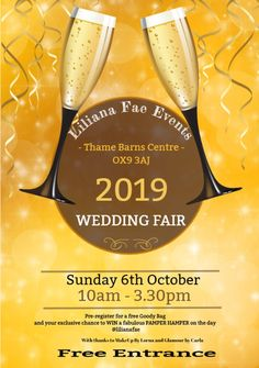 Thame next Sunday has 2 Wedding Fayres on 6 October 1 at Spread Eagle Hotel from to & the other at Thame Barns Centre from until Pamper Hamper, Wedding Fayre, Next Sunday, October 1, Barns, Centre, Eagle, Weddings, The Eagles