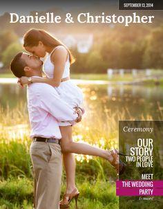 The Album Factory - 8-Page Magazine Wedding Program