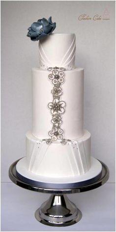 Beautiful Jewelled Wedding Cake <3