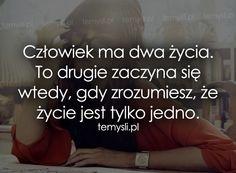 TeMysli.pl - Inspirujące myśli, cytaty, demotywatory, teksty, ekartki, sentencje Life Is Beautiful, Motto, Sentences, Quotations, Texts, Coaching, Sad, Humor, Quotes