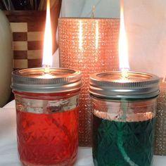 Mason Jar Oil Lamp WICK + GLASS HOLDER for DIY Lanterns - Wolfard, Ball