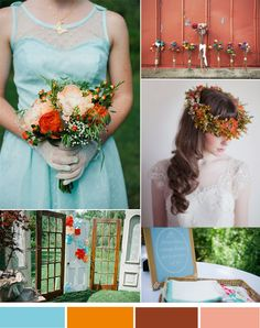 Vintage Fall Weddings—Top 3 Hot Wedding Color Inspiration | http://www.tulleandchantilly.com/blog/vintage-fall-weddings-top-3-hot-wedding-color-inspiration/
