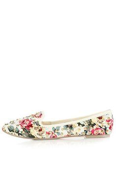 floral stud slippers / topshop