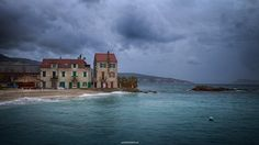 """""""On the wind"""" I'm happy and proud my photo has been awarded by Photo One Editors! #sea   #Adriatic   #House   #beach   #sky   #clouds   #Croatia   #Komiža   #Vis   #island   #Hrvatska   #Europe   #Canon   #HDR"""