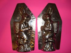 Antique Chocolate Mold Candy Mold Bunny Rabbit Easter Mold German Mold