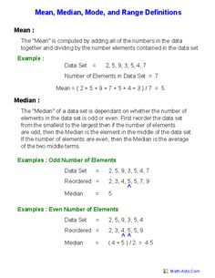 These Mean Mode Median and Range Worksheets are perfect for mastering the math topic of means, modes, medians, and ranges of data set of numbers. Math Worksheets, Math Resources, Mean Median And Mode, Statistics Math, Interactive Math Journals, Online Mock Test, Third Grade Science, Math Questions, Question Paper