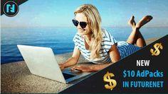 Geld verdienen im Internet - Earn Money online: Ab SOFORT auch 10$ Adpacks bei FutureAdPro
