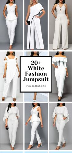 Cute Fashion Black Jumpsuit Related posts: Fashion Black Book Credit: Folgen Sie # na… Fashion Pure Colour Off-Shoulder Jumpsuit cute outfits for teen fashion outfits short tops copy so cute Latest Fashion For Women, Womens Fashion, Elegantes Outfit, Perfect Prom Dress, White Jumpsuit, White Fashion, Jumpsuits For Women, African Fashion, Trending Outfits