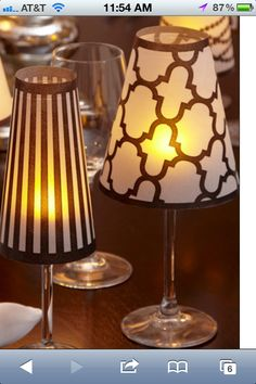 Stemware lamp on pinterest wine glass vellum paper and lamp shades