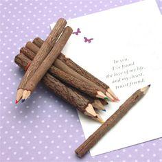 Mini Wood Pencils - 10 pcs