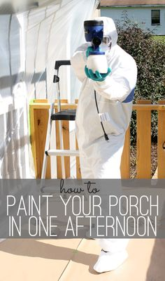 How to Paint a Porch-in one day