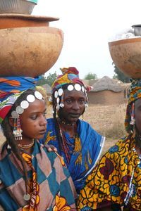 Fulani milkmaids...the headbands are so exotic and the henna makeup