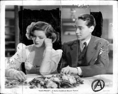 """Myrna Loy and Franchot Tone In """"Man-Proof"""", 1940 spent years trying to find it, still am.."""