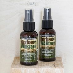 No DEET. All natural insect repellant! http://shop.pallensmith.com/garden/herban-warfare-insect-repellant/