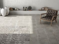 Moliere Decor Mix Floor Tiles from Tile Mountain only per tile or per sqm. Order a free cut sample, dispatched today - receive your tiles tomorrow Grey Floor Tiles, Bathroom Floor Tiles, Grey Flooring, Concrete Bathroom, Gray Floor, Kitchen Tiles, Conservatory Flooring, Patchwork Tiles, Terrazzo Tile
