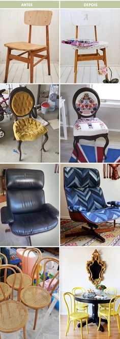 DIY furniture remakes -- need to reupholster my desk chair and am afraid I won't be able to find the same orange vinyl.