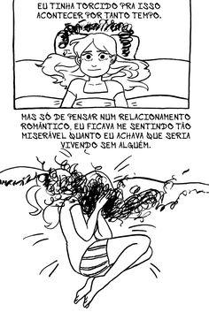 Arromantico Assexual descobrimento p.16 Ilustrações de Kotaline Jones