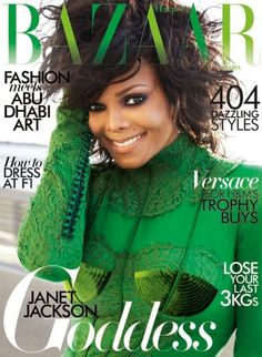 Janet Jackson goes green for Arabian Harper's Bazaar