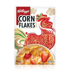 Kellogg's Corn Flakes Chinese New Year Limited Edition on Packaging of the World - Creative Package Design Gallery