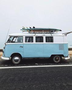 Surf lifestyle // surf mobile // beach truck // surfboards // beach life // road trip // camper van // vw bus