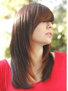 Side Swept Bangs, Blunt Bangs, Long Layered Hair, Layers, Long Hair Styles, Hairstyles, Beauty, Image, Nice Hairstyles