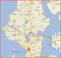 8 best seattle maps images on Pinterest | Seattle map, Blue prints ...