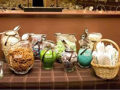 Create a mix-and-match candy bar as a treat for wedding guests. #countrywedding http://www.gactv.com/gac/photos/article/0,3524,GAC_42725_6075192_01,00.html?soc=pinterest