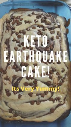 This crazy mixed up low carb cake is truly delicious stuff! Keto chocolate cake swirled together with sugar-free cheesecake, pecans, and coconut for a healthy take on the famous earthquake cake. Low Carb Deserts, Low Carb Sweets, Low Carb Keto, Low Carb Recipes, Galletas Keto, Sugar Free Cheesecake, Comida Keto, Keto Chocolate Cake, Keto Friendly Desserts
