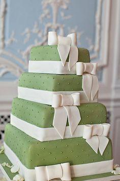 Pale Green Wedding Cake...