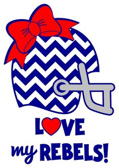 Love my Rebels Ole Miss Car Decal by VinylGifts on Etsy