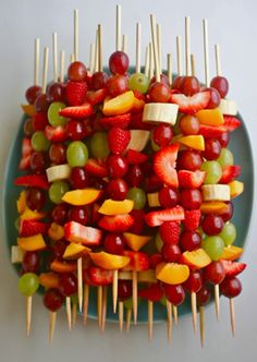 Fruit kabobs!