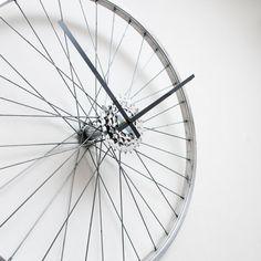 Bicycle Wheel Clock  Large Clock  Bicycle Clock  Unique