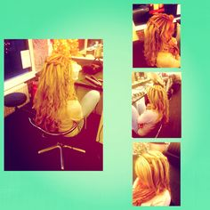 Waterfall plait and loose plait